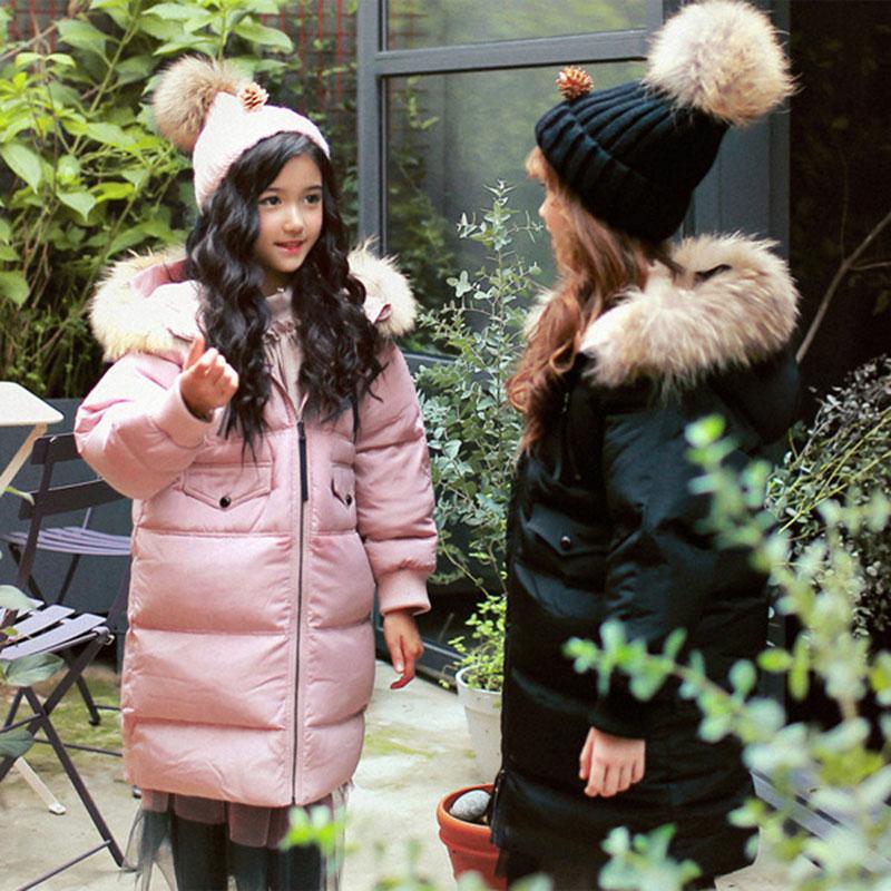 Одежда для девочек в Корейском стиле; Зимний пуховик с капюшоном для больших мальчиков; зимний детский хлопковый пуховик Mianfu на белом утино... - 3