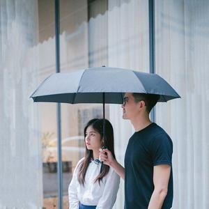 Image 4 - Xiaomi Katlanır otomatik şemsiye WD1 23 inç Güçlü rüzgar geçirmez Hiçbir film güneş koruyucu su geçirmez Anti UV güneş şemsiyesi