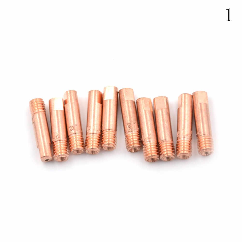 Bộ 10 Mb 15AK Mig Mag Hàn Hàn Đèn Pin Liên Hệ Đầu Giá Đỡ Kim Phun Xăng Vàng 1.0 Mm 1.2 Mm Cao Cấp chất Lượng