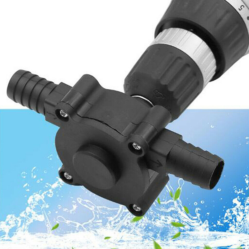 Black DC Pumping Self-Priming Centrifugal Pump Household Small Pump Hand Crank Electric Drill Water Pump