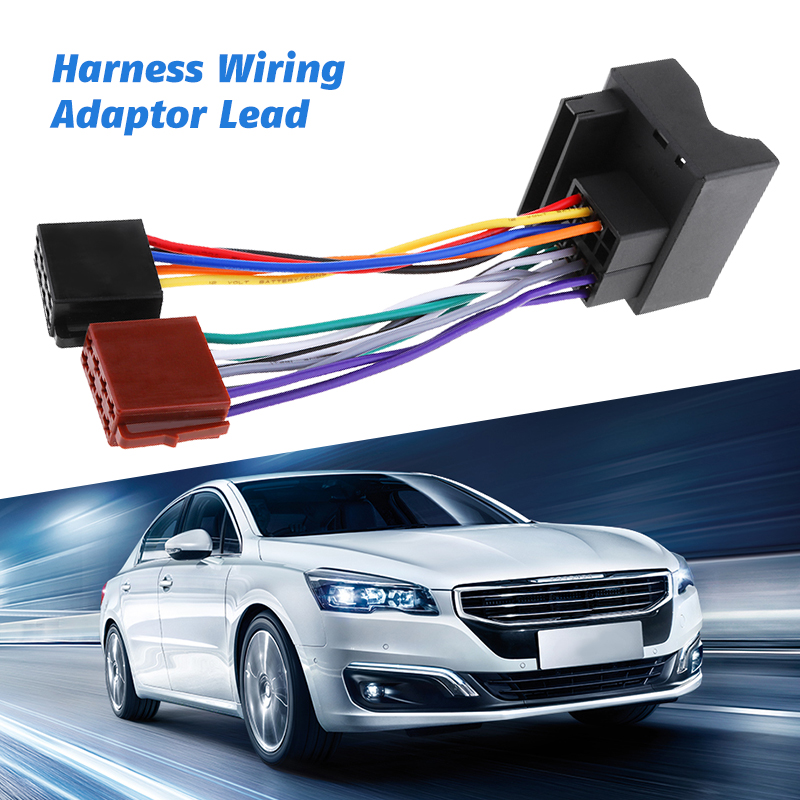 2019 New Car Stereo Radio Wiring Harness Lead Adaptor Cable Loom For Ford Galaxy Mondeo Fiesta Etc Car Wire Cable Adapter-in Cables, Adapters & Sockets from Automobiles & Motorcycles