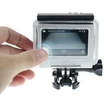 Сенсорная задняя дверь Водонепроницаемая Крышка для GoPro Hero 4 3+ спортивная Экшн-камера Go Pro Аксессуары