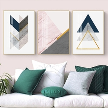 Modern Simple Abstract Gold Foil Marble Texture Geometry Light Luxury Decorative Painting Picture Wall Pictures For Living Room