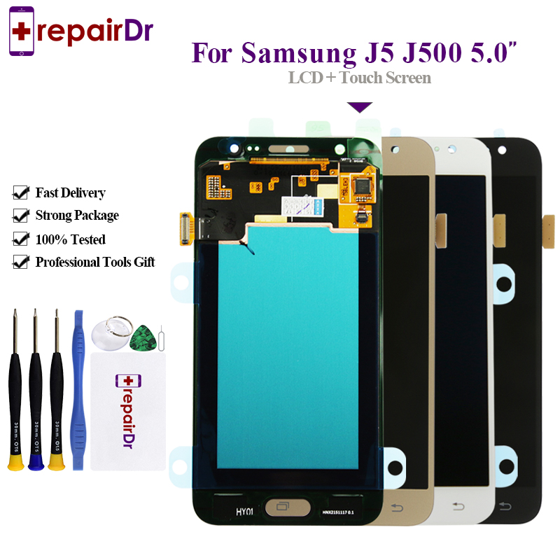Original pour Samsung GALAXY J5 J500 J500F J500FN J500M J500H 2015 LCD écran tactile numériseur assemblée J5 2015 Lcd
