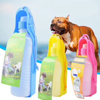 250ML/500ML Pets Dogs Water Bottle Feeders With Bowl Portable Travel Pets Outdoor Drinking Dispenser Bottle For Small Medium Dog