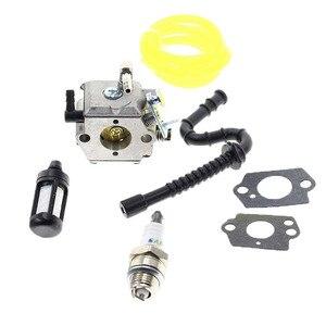 Kit de reconstrução do carburador para stihl 028 028av 028 super tillotson hu 40d walbro wt 16b acessórios para equipamentos de potência peças de serra de corrente