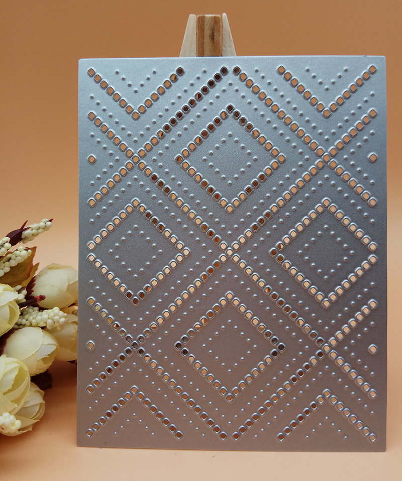 Lattice Twill square pole diamond Background Cover Cutting Dies Scrapbooking Dies Metal Stamps and die for Card Making DIY