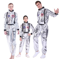 SNAILIFY Silver Spaceman Jumpsuit Boys Astronaut Costume For Kids Halloween Cosplay Children Pilot Carnival Party Fancy Dress