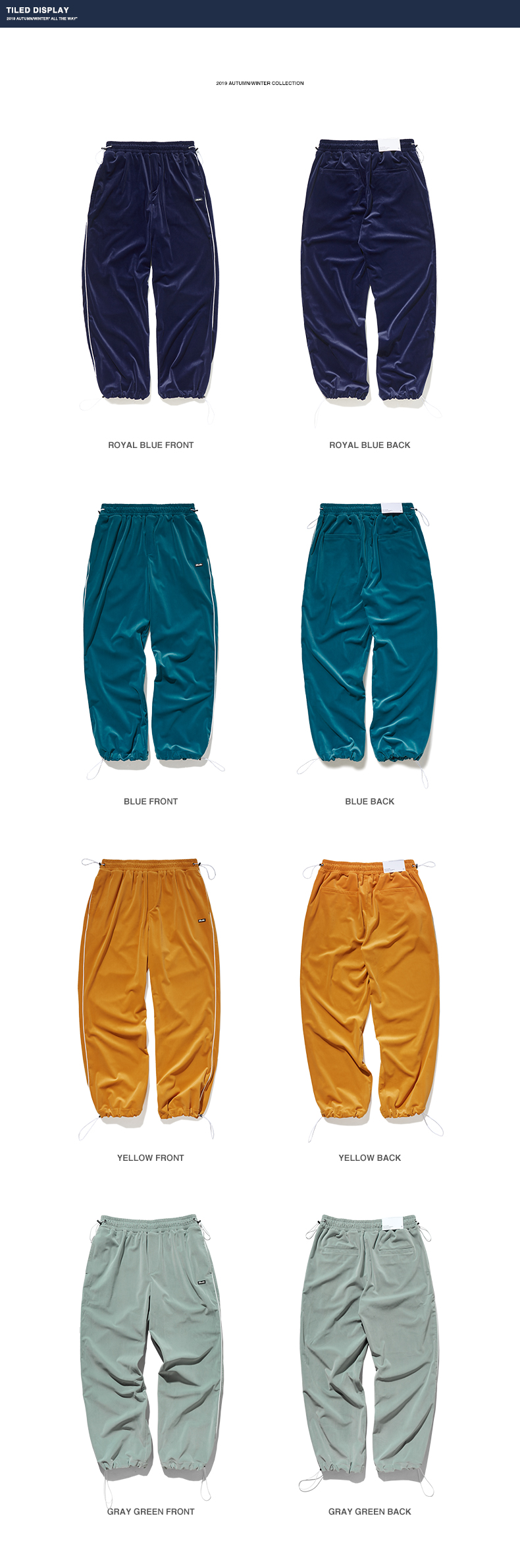 INFLATION 2020 FW Men Track Pants Loose Fit Overalls Solid Color Men Track Pants Streetwear Flannelette Fabric Men Pants 93381W 72