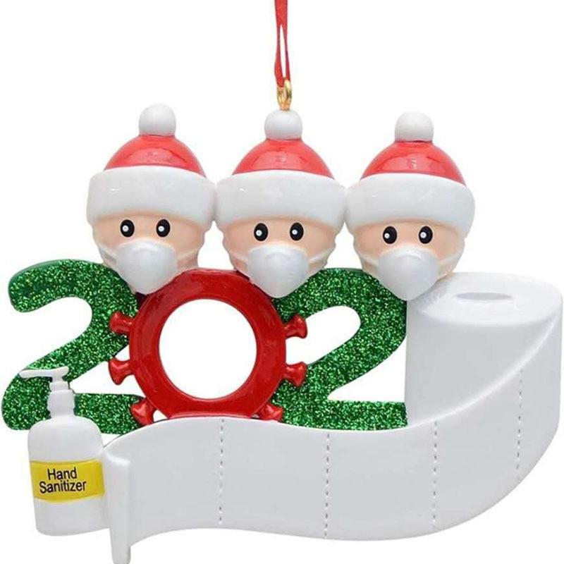 Коллекция 2020 года, карантин, украшение для рождественской вечеринки, подарок, Санта-Клаус с маской, персонализированная семейная серия
