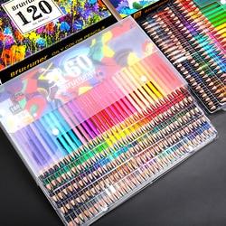 48/72/120/160/180 Colors Professional Oil Color Pencils Wood Soft Watercolor Pencil for School Drawing Sketch Art Supplies