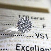 Круглые бриллиантовые огранки 10 карат 65 мм e f цветные моисаниты