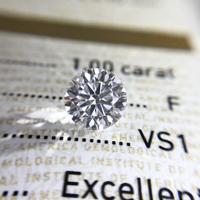 Round Brilliant Cut 1.0ct Carat 6.5mm E F Color Moissanites Loose Stone Diamond Ring Jewelry Bracelet Material High Quality