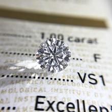 Taglio Brillante Rotondo 1.0ct Carat 6.5 Millimetri E F Colore Moissanites Allentato Anello di Pietra di Diamante Dei Monili Del Braccialetto Materiale di Alta Qualità