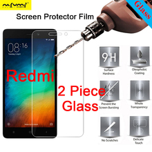 2 Piece 9H Clear Protective Glass Screen Protector for Redmi S2 Go 3S 3X 3 2 Film HD Tempered Glass for Xiaomi Redmi 4X 4A 4 Pro цена 2017