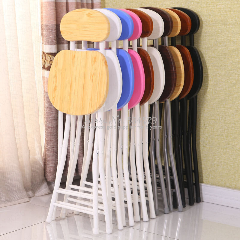 21%Folding Chair Stool Home Chair Dining Table Stool High Fashion Small Stool Backrest Bench Simple Simple Portable Creative