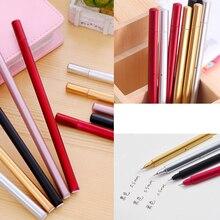 1+10Pcs Metal Imitation Textured Mixed Gel Pen, Refills, Black Signature Student Office Pens, & School Supplies