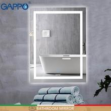 Gappo светодиодный светильник для ванной с зеркалом, зеркальный светильник для макияжа, прямоугольные зеркала для ванной комнаты