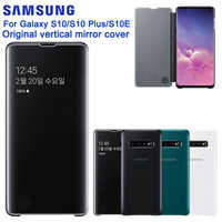 SAMSUNG Original Mirro Clear View Cover Phone Case For Samsung GALAXY S10 S10E G9700 S10+ S10Plus Authentic Rouse Slim Flip Case