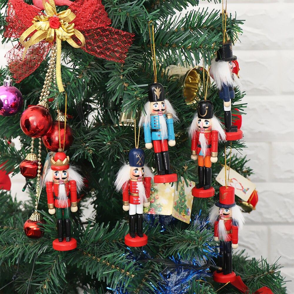 1 шт., изысканный деревянный Щелкунчик случайного цвета, декоративное изделие ручной работы для друзей, подарки для детей, рождественский дом, офис, дом, дисплей