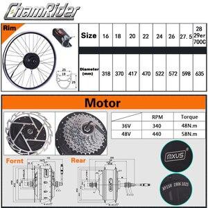 Image 3 - MXUS ebike Kit комплект для переоборудования электрического велосипеда Hailong аккумулятор 350 Вт 500 Вт 36 В Ач 48 в 17 Ач 52 в 17 Ач 15F 15R XF ЖК дисплей двигателя