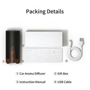 Image 5 - GX. מפזר קולי אדים רכב USB חיוני שמן מפזר סגסוגת מכונית המיני ארומה מפזר ערפל יצרנית עם LED מנורה
