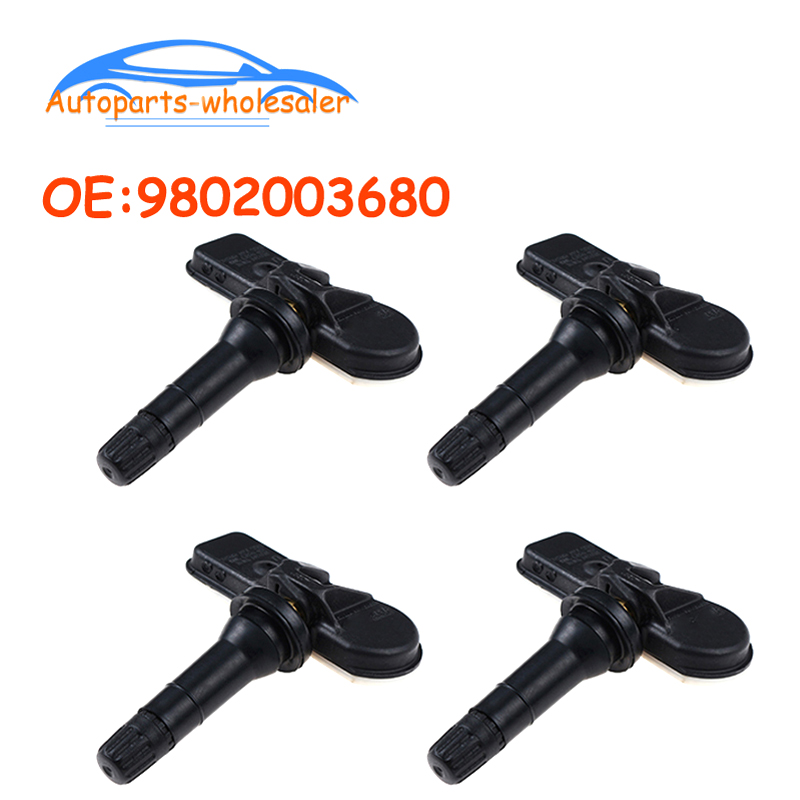 4 OEM TPMS Sensors 9811536380 for Peugeot 207 301 308 508 3008 5008 Partner RCZ