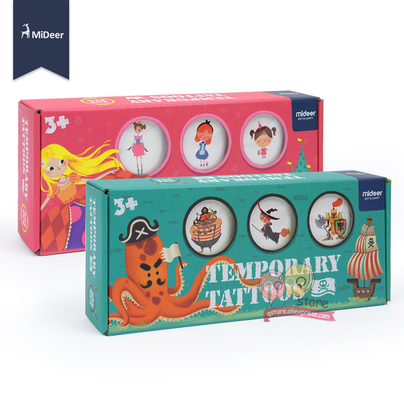 Kids Toys Waterproof Temporary Tattoo Nail Stickers kit Art Craft Set Girls Toys For Children Fashion MiDeer Birthday Party Game 5