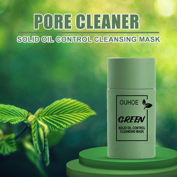 1PC Green Tea Cleansing Clay Stick Mask Acne Cleansing Beauty Skin Green Tea Moisturizing Hydrating Whitening Face Care TSLM1 1