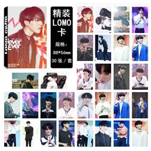 30 Stks/set K-Pop GOT7 Photocard Yugyeom Enkele 03 Fashion Hoge Kwaliteit GOT7 Fotoalbum Card Briefpapier Set Promotie(China)