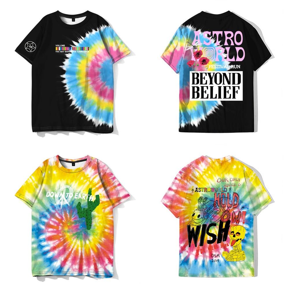 ASTROWORLD Travis Scott Astroworld Festival Running T-Shirt New Fashion Hip Hop Harajuku Tee Tops Camiseta