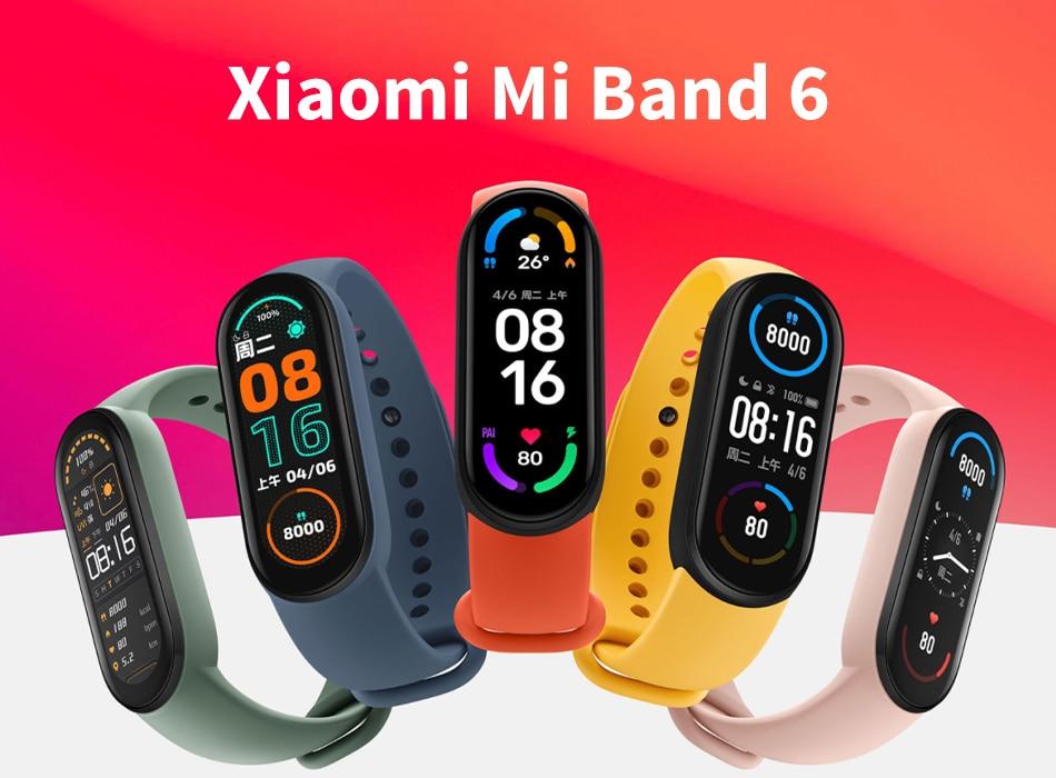 Фитнес-браслет Xiaomi Mi Band 6 с AMOLED экраном, мониторинг пульса и содержания кислорода в крови, водонепроницаемый 49