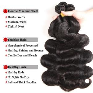 Image 4 - Body Wave Bundles With Closure Brazilian Hair Weave 3 Bundles With Closure Human Hair Bundles With Closure 30 Inch Bundles