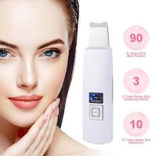Ultrasonic Deep Face Cleaning Machine Skin Scrubber Dirt Blackhead Wrinkle Spot Remover Facial Whitening Lifting Tool ultrasonic deep face cleaning machine skin scrubber skin peeling face pores removal scrubber facial whitening lifting