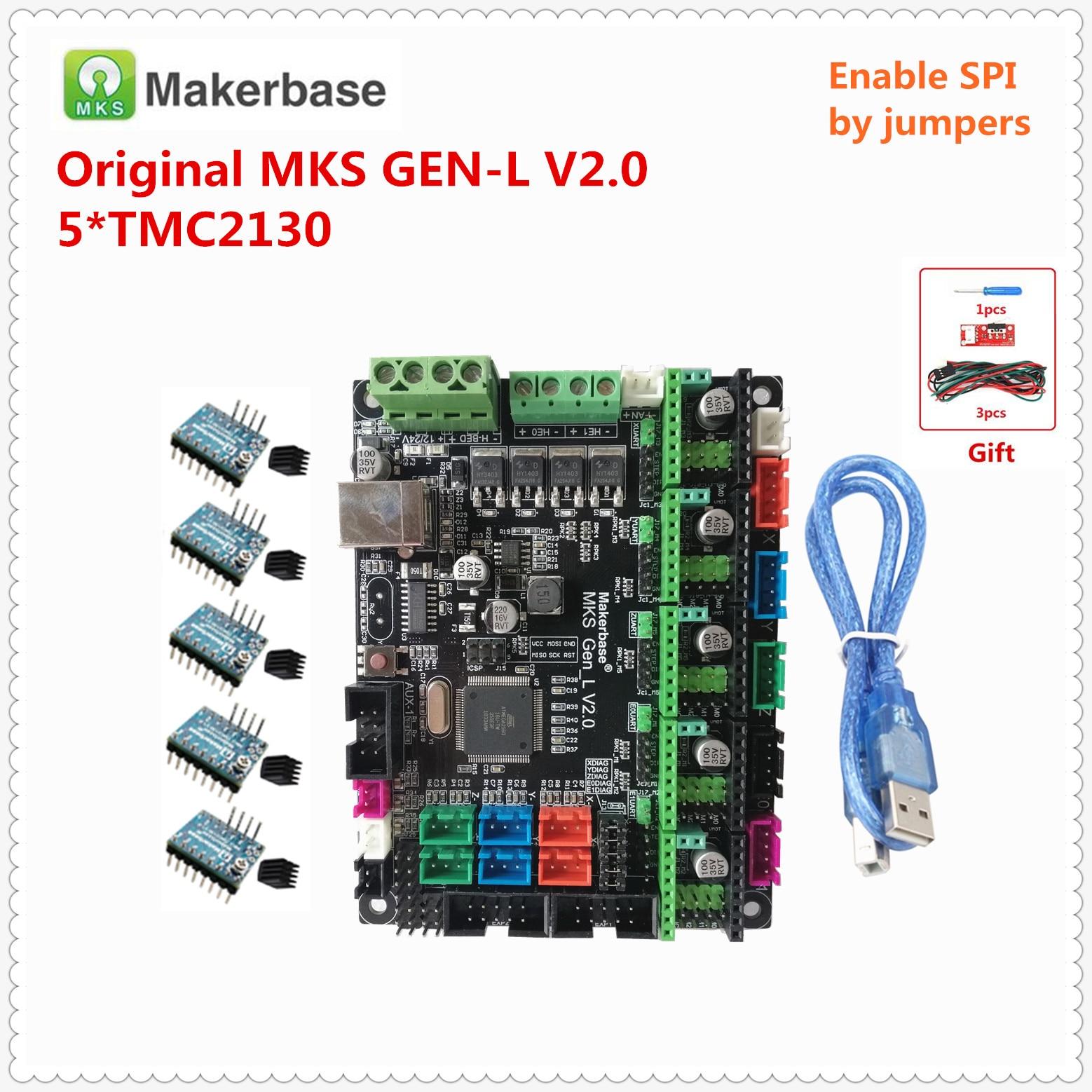 Makerbase original MKS GEN L V2.0 3D printer spare card control mainboard support a4988 DRV8825 tmc2130 tmc2208 tmc2209 lv8729|3D Printer Parts & Accessories| |  - title=