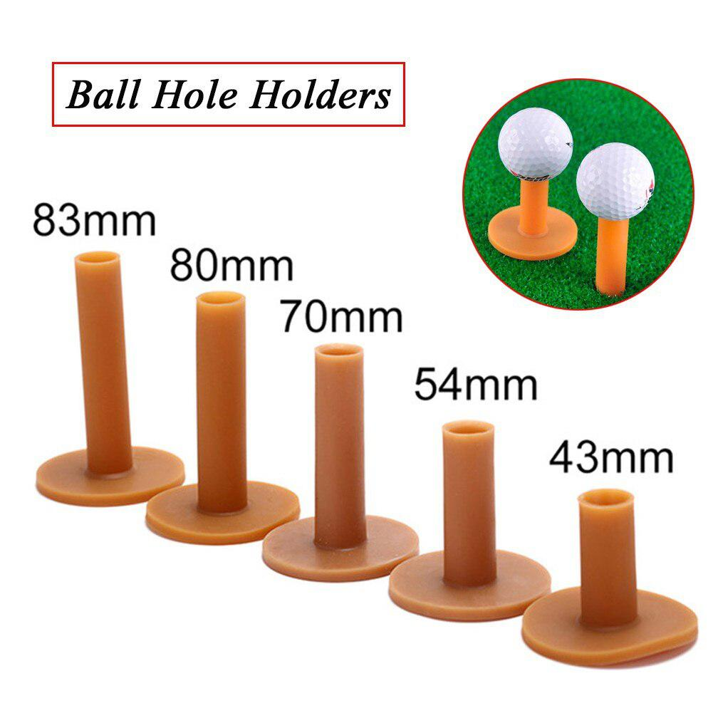 HobbyLane 43/54/70/80/83mm Training Practice Tee Mat Golves Ball Hole Holders Beginner Trainer Practice Rubber Golf Tee Holder