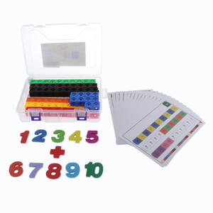 Educational Math Counting Calculation Toy Number Set Math Link Cubes For Kids