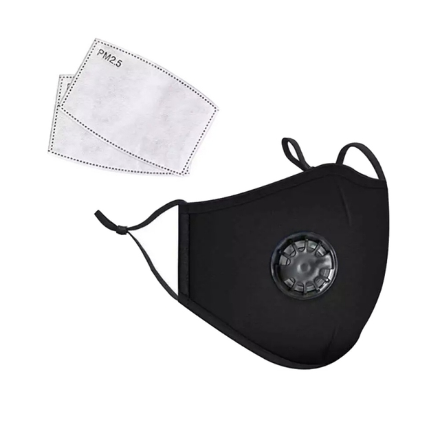 PM2.5 Black mouth Mask anti dust mask Activated carbon filter Windproof Mouth-muffle bacteria proof Flu Face mask Care s 3