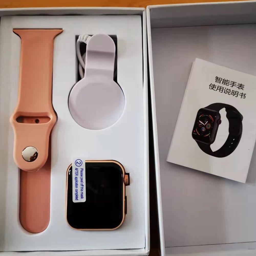 Smart Watch 44mm Strap Can Be Changed Heart Rate Men Women Smartwatch Iwo For Apple IOS Android PK Iwo F10  8 Plus P68 W34