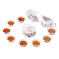 Jingdezhen China antike Kung Fu tee set teekanne keramik abdeckung schüssel tasse porzellan hause dekoration zeremonie gaiwan wasserkocher teetasse|Teegeschirr-Sets|   -
