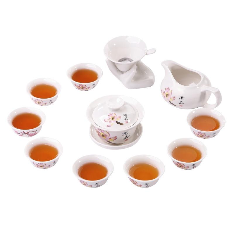 Jingdezhen China Antique Kung Fu Tea Set Teapot Ceramic Cover Bowl Cup Porcelain Home Decoration Ceremony Gaiwan Kettle Teacup