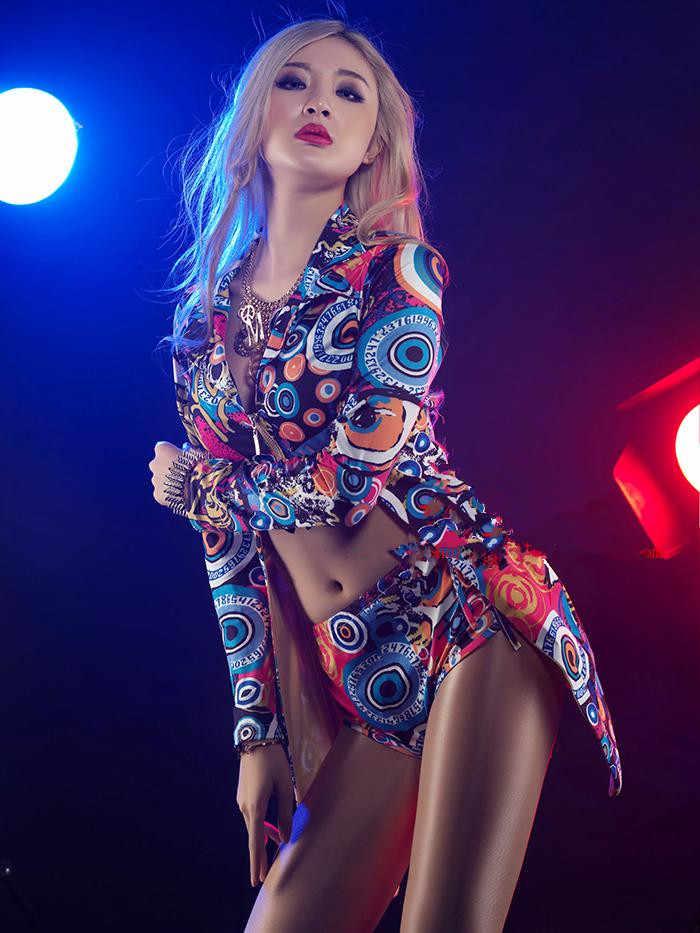 DJ Led 정장 레이브 의류 장대 댄스 의류 재즈 댄스 의상 나이트 클럽 바 Ds 의상 섹시한 여성 가수 DJ Led 정장 new