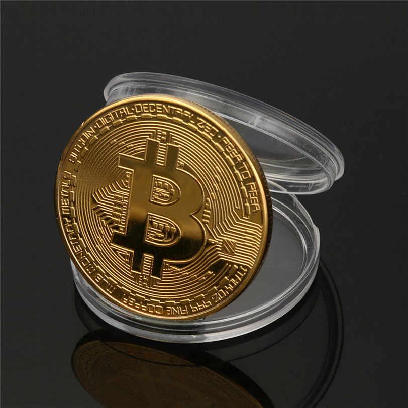 ゴールド bitcoin コインコレクター美術コレクションのギフト物理記念 casascius ビット btc 金属アンティーク模造