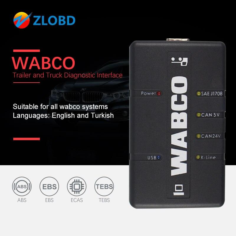 WABCO диагностический WDI прицеп и грузовик диагностический интерфейс набор для диагностики WABCO (WDI)OBD2 грузовик сканер WABCO сверхмощный