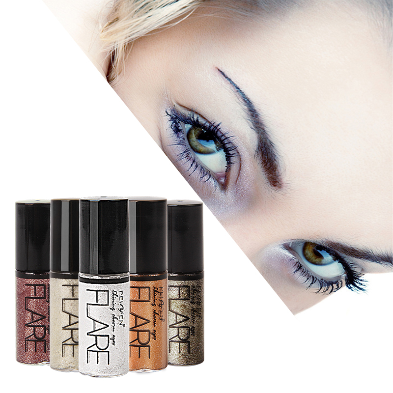 Professional Liquid Shiny Eyeliner Makeup Eye Liner Cosmetics for Women Pigment Silver Rose Gold Glitter Eyeliner Beauty Tools in Eyeliner from Beauty Health