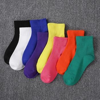 Casual Socks Harajuku Fluorescent Green Tube Socks Men&Women Unisex Cotton Girls Winter Socks