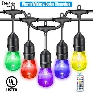 Светодиодная лента RGB, изменяющая цвет, регулируемая, сверхпрочная, водонепроницаемая, для коммерческого использования, для патио, крыльца, ...