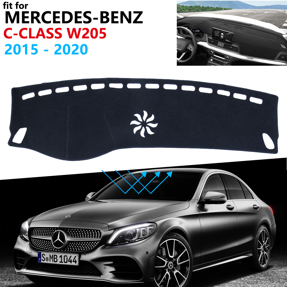 Dashboard Cover Protective Pad for Mercedes Benz C-Class W205 Car Accessories Sunshade Carpet C-Klasse C180 C200 C220 C250 C300