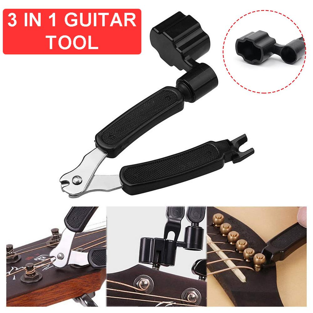 3 In 1 Guitar String Winder String Cutter And String Pin Puller Compact Portable For Stringed Instrument 40FP19