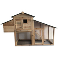 Chicken Coops Rabbit Hutch Cage Backyard Elevated Hen House Small Animal Habitat